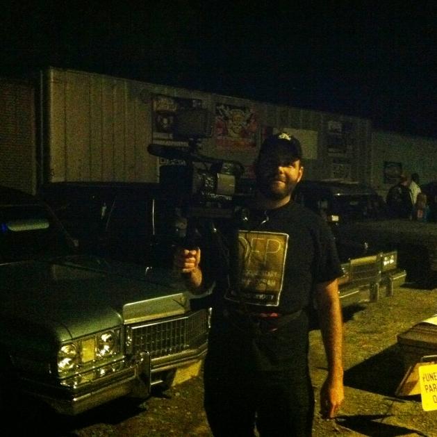 Brenton filming at Horror Fields