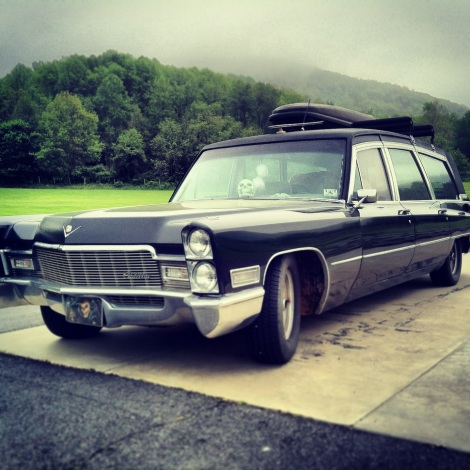 Paul's 1968 Cadillac Superior at the southeastern regional meeting of The National Hearse and Ambulance Association in Asheville